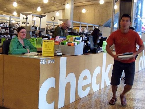 Check in nella biblioteca pubblica di Seattle