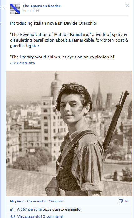 Dalla pagina Facebook