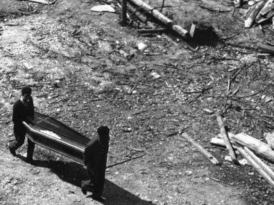 La bara di un minatore (Archivio Storico Cgil Nazionale)