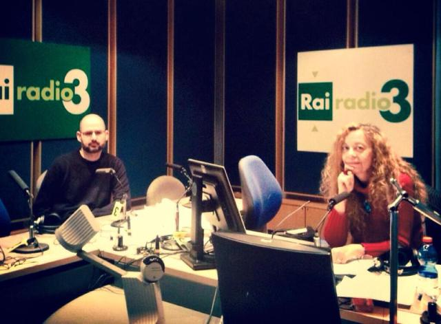 Con Loredana Lipperini durante la trasmissione (foto Redazione social Radio3)