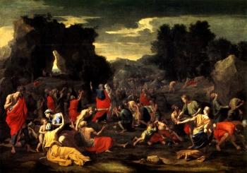 Nicolas Poussin, La caduta della manna, 1639
