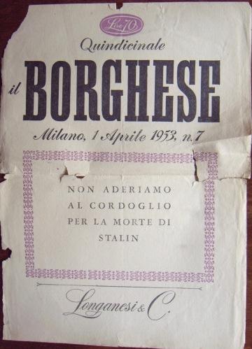 La copertina del Borghese di Leo Longanesi